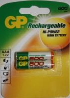 Аккумулятор GP HC03/AAA Ni-MH  600mAh 2bl
