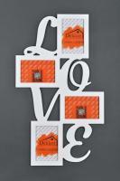 """Фоторамка 10x15/ 4 Dekkor """"Love"""" W"""