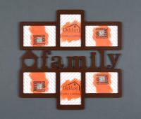 """Фоторамка 10x15/ 6 Dekkor """"Family"""" Color w/box"""