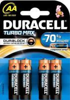 Батарейка Duracell LR 6/AA Turbo  4bl/80