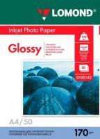 Фотобумага Lomond Glossy 21x29.7 (А4) 170  50л.