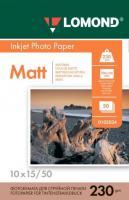 Фотобумага Lomond Matt 10x15 (А6) 230  50л.