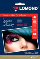 Фотобумага Lomond SuperGlossy 10x15 (А6) 210  20л.
