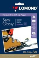 Фотобумага Lomond SemiGlossy 10x15 (А6) 260  20л.