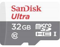 Карта памяти SanDisk microSDHC 32Gb Ultra Class 10 с адаптером SD