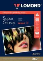Фотобумага Lomond SuperGlossy 29.7x42 (А3) 260  20л.