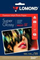 Фотобумага Lomond SuperGlossy 10x15 (А6) 260  20л.