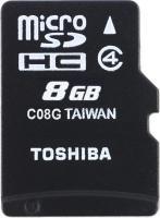 Карта памяти Toshiba microSDHC  8Gb Class  4 с адаптером