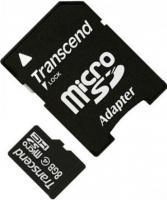 Карта памяти Transcend microSDHC  8Gb Class  4 с адаптером